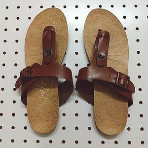 Blowfish Malibu Leather Sandals, Size 6.5